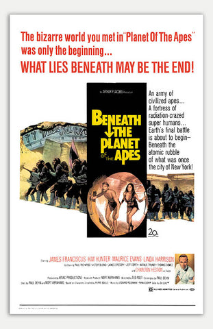 "Beneath The Planet Of The Apes - 11"" x 17""  Movie Poster"