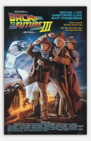 "Back to the Future 3 - 11"" x 17""  Movie Poster"