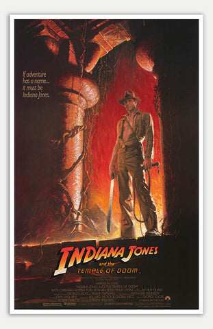 "Indiana Jones And The Temple Of Doom - 11"" x 17""  Movie Poster"