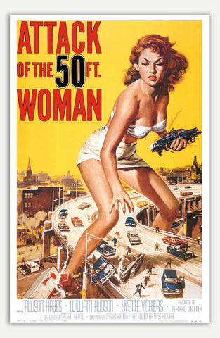 "Attack of the 50 Foot Woman - 11"" x 17""  Movie Poster"