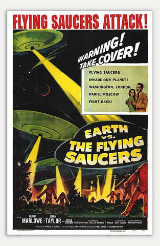 "Earth Vs. The Flying Saucers - 11"" x 17""  Movie Poster"