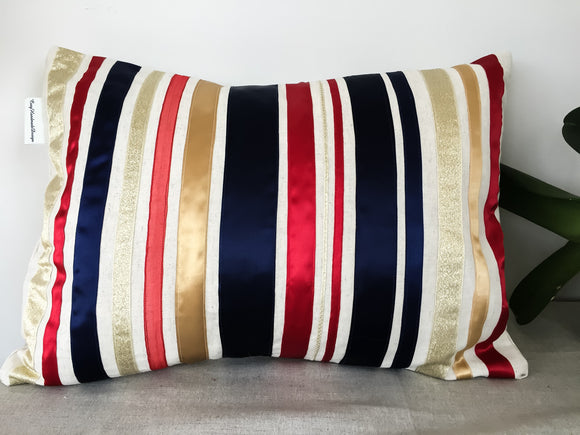 Royal Gold Ribbon cushions