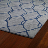 Kaleen Casablanca CAS02 Blue Area Rug Close-up Shot Feature