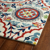 Kaleen Global Inspirations GLB08-01 Ivory Area Rug Close-up Shot Feature