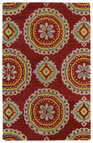 Kaleen Global Inspirations GLB09-25 Red Area Rug main image