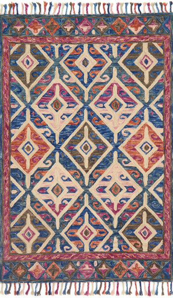 Loloi Zharah Zr 04 Denim Multi Area Rug Incredible Rugs