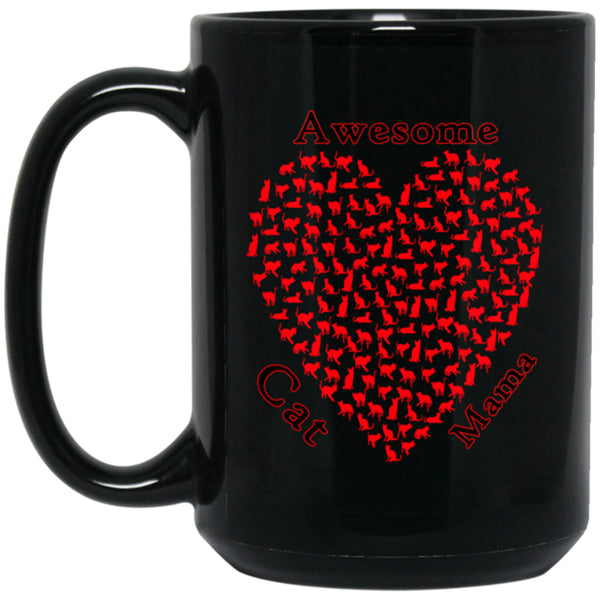 mothers day black coffee mug 15 oz