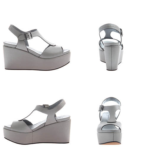 BARDII in GREY Wedge Sandals