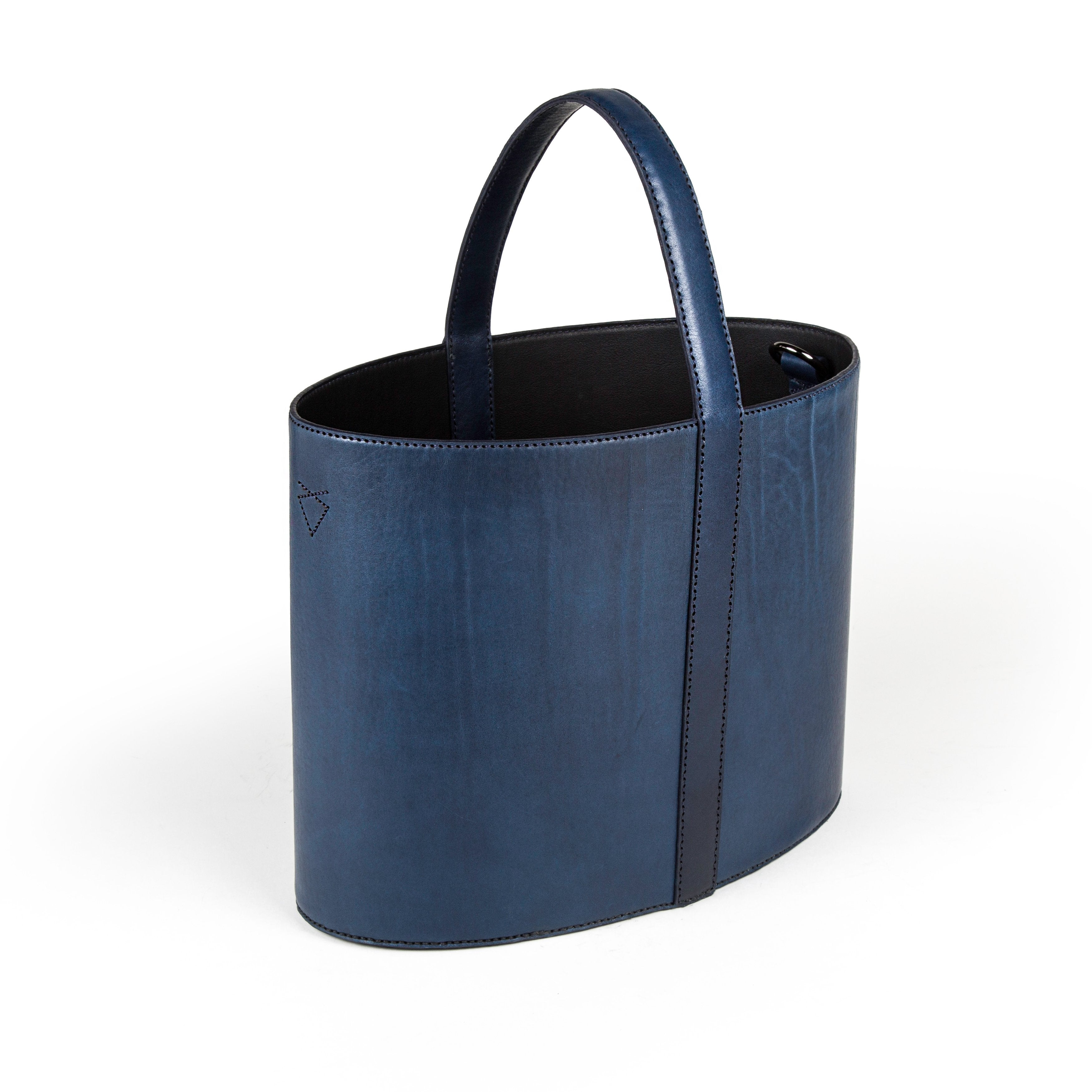 The Panier - Horween Navy Pebbled Essex - Lajoie