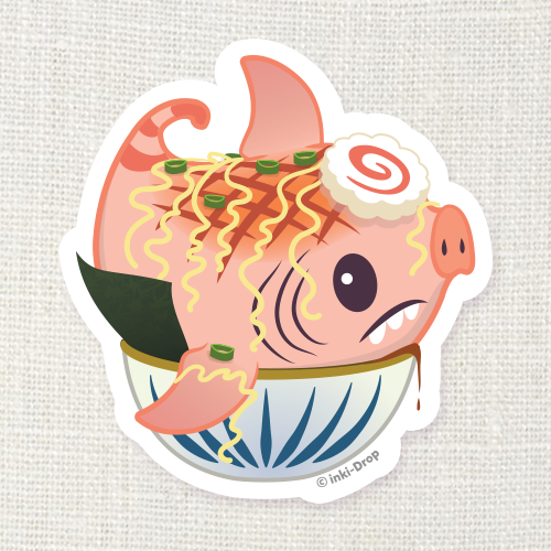 Pork Chomp Ramen Glutton Sticker