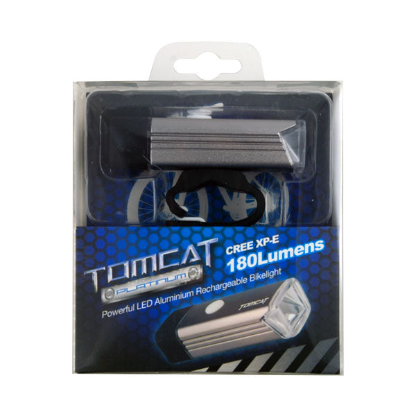 Tomcat Platinum USB Re Charge Front Bike Light
