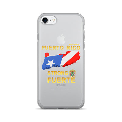 Puerto Rico Strong Fuerte - iPhone 7/7 Plus Case - All Proceeds will be Donated!