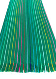 Mexican Fabric Table Runner - Striped green