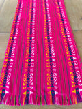 Mexican Fabric Table Runner - hot pink