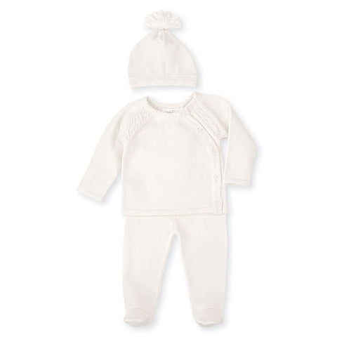Ivory Cable Knit Set Baby