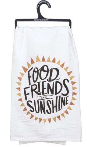 Food Friends & Sunshine Dish Towel