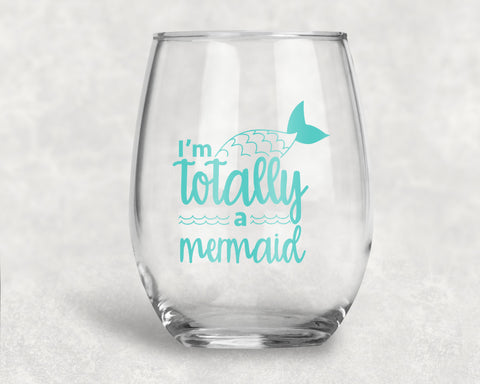 I'm totally a Mermaid Stemless Glass.