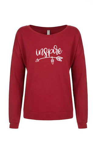 Inspire French Terry Off the Shoulder Sweat Shirt