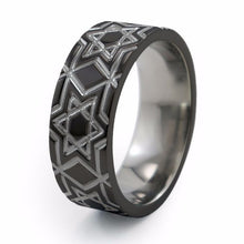 Star of David  titanium band, everyday ring or perfect for a jewish celebration