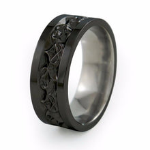 Titanium Ring, Mens ring, Amore Ring, Wedding Ring, Black Ring, Black Titanium Ring