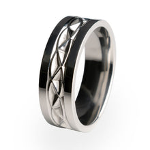 Hypnos Titanium ring. A stylish wedding ring made from aircraft grade titanium