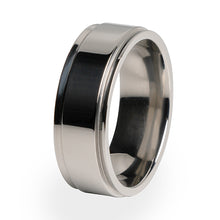 Samurai Titanium ring.  Comfort fit and lifetime warranty.  Traditional design. Custom made.