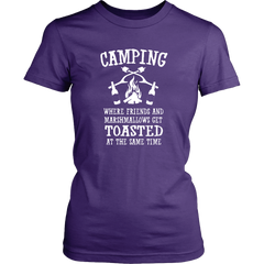 Camping Where Friends And Marshmallows Get Toasted