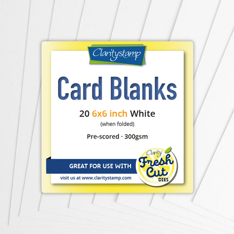 "Card Blanks <br/>6"" x 6"" White x20"