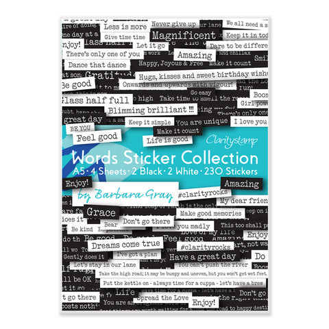 Barbara's Words Sticker Collection