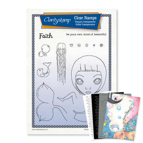 Dee's Friends - Faith + Mask <br/> A4 Unmounted Stamp Set <br/>