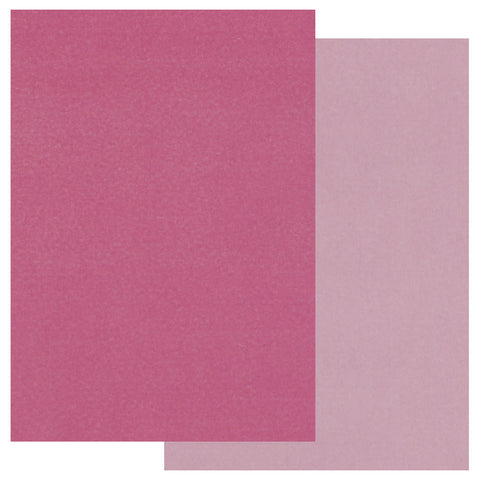 Groovi® Two Tone A5 Coloured Parchment Paper - Pink (20 Sheets)