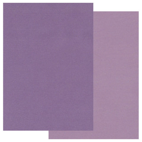 Groovi® Two Tone A5 Coloured Parchment Paper - Purple (20 Sheets)