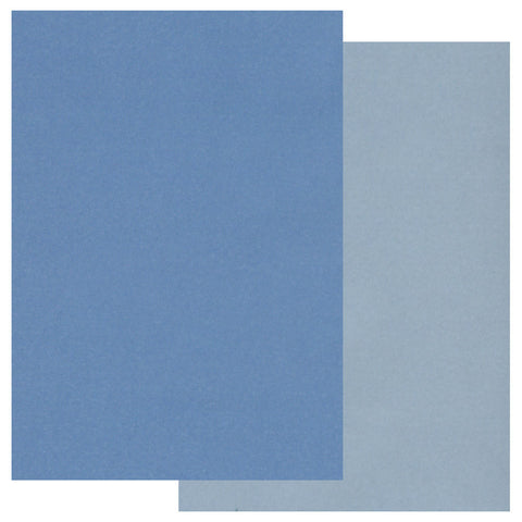 Groovi® Two Tone A5 Coloured Parchment Paper - Blue (20 Sheets)