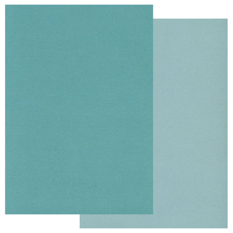 Groovi® Two Tone A5 Coloured Parchment Paper - Teal (20 Sheets)