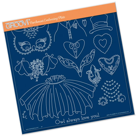 Wedding Owl Accessories <br/> A4 Square Plate Mate