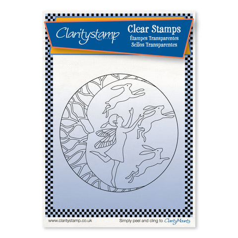 Fairy Night Round - Fine Line <br/> A6 Unmounted Stamp