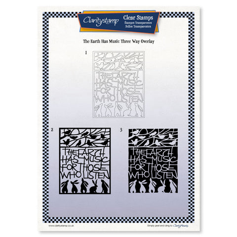 The Earth Has Music <br/> Three-way Overlay Unmounted Clear Stamp Set