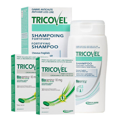 2 Pack Tricovel Tablets and 2 Shampoo
