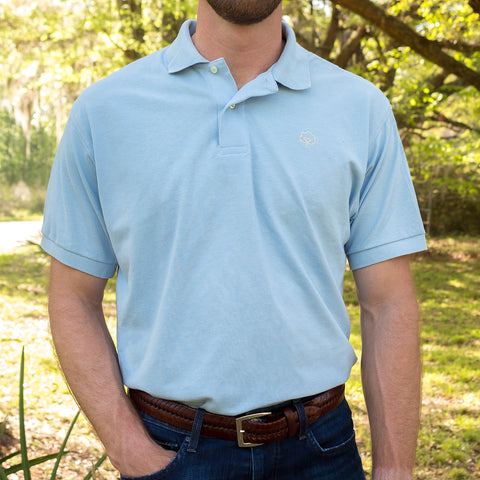 Men's Cotton Blue Ridge Polo