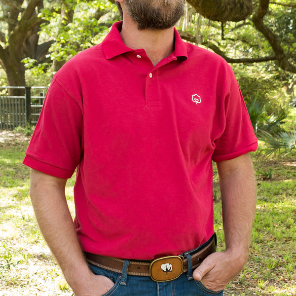 Men's Cotton Carolina Garnet Polo