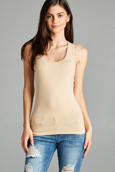 The Racerback Tank Top - Taupe