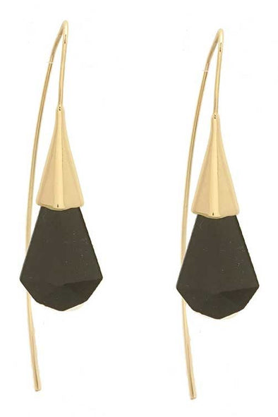 Sleek Drop Earrings