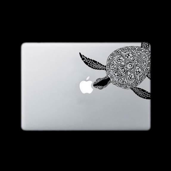 DECAL STICKER - TURTLE DESIGN - BLACK