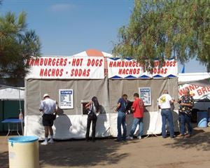 10X20 FOOD BOOTH CANOPY TENT