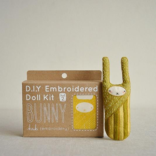 D.I.Y. Embroidered Doll Kit - Bunny
