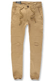 Sean - Stacked Chino Twill Pants (Khaki)