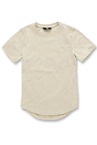 Kids Melange Scallop T-Shirt (Latte)