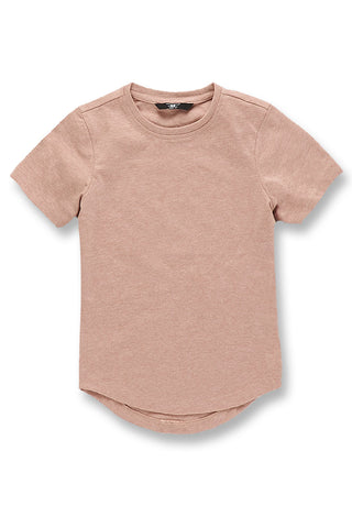 Kids Melange Scallop T-Shirt (Mahogany Rose)