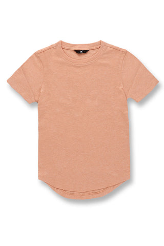 Kids Melange Scallop T-Shirt (Salmon)