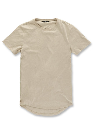 Melange Scallop T-Shirt (Latte)
